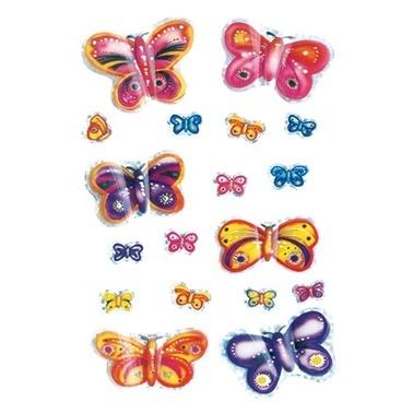 Herma Çocuk Etiketleri Fosforlu Kelebekler Renkli